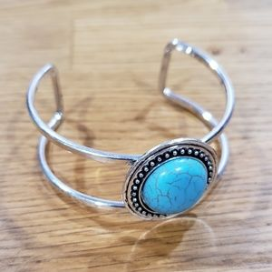 NWT Silver and Turquoise Bracelet